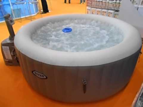 intex whirlpool aufblasbar jacuzzi youtube. Black Bedroom Furniture Sets. Home Design Ideas