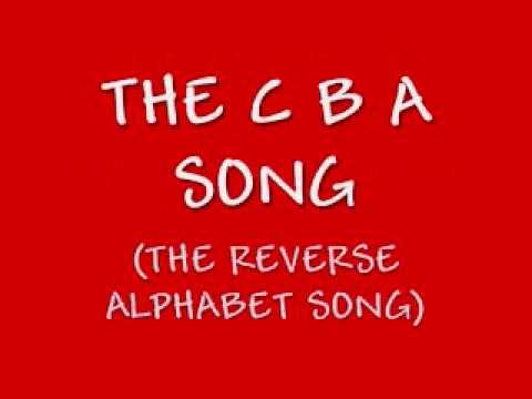 Funny Backwards Alphabet Song: The CBA Song