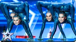 Angara Contortion are out of this world   Auditions Week 4   Britain's Got Talent 2017