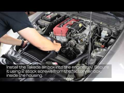 How To Install aFe Power 00-09 Honda S2000 (AP1/AP2) L4-2.0L/2.2L Takeda Intake System TM-1023B-D/R