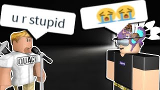 PISSING OFF KIDS IN ROBLOX RAP BATTLES