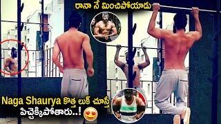 Tollywood hero Naga Shaurya lastest workout video..