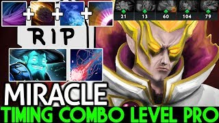 Miracle- [Invoker] Timing Combo Level Pro Player Crazy Gameplay 7.21 Dota 2