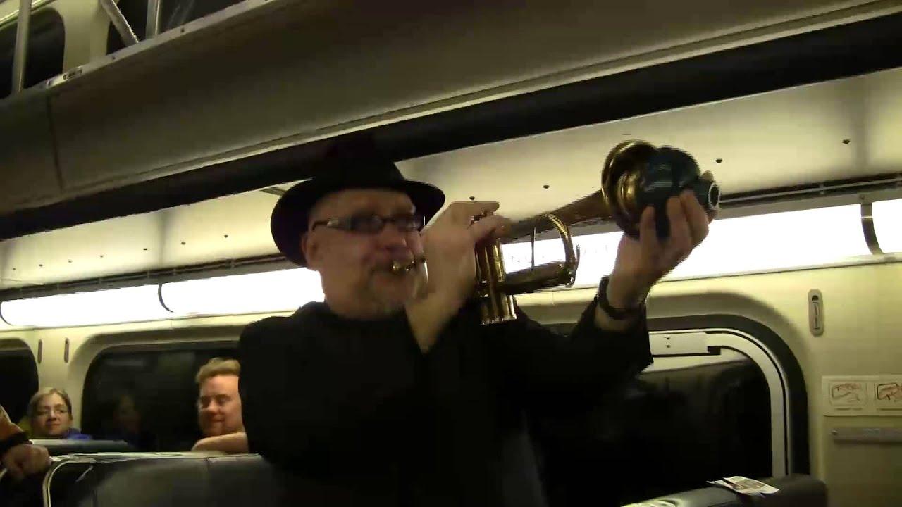 Spontaneous music on the Metra train