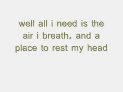 Say (all I need) - One Republic (lyrics)