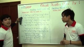 Phương pháp giải hệ phương trinh part 1