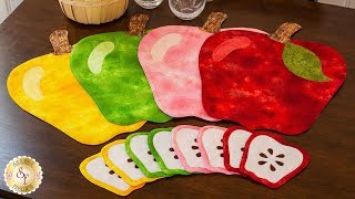 How to Make Apple Placemats & Coasters | A Shabby Fabrics Sewing Tutorial
