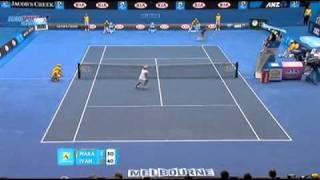 [HL] Ana Ivanovic v. Ekaterina Makarova 2011 Australian Open [R1] [1/2]