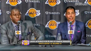The Lakers introduce, Rob Pelinka as the General Manager