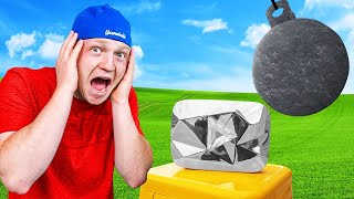 I Tried To DESTROY My DIAMOND PLAY BUTTON! Indestructible!