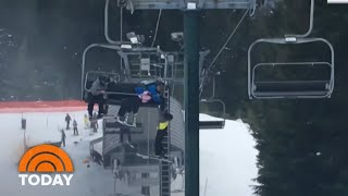 Watch Teens Pull Off Incredible Rescue Of Boy Dangling From Ski Lift | TODAY