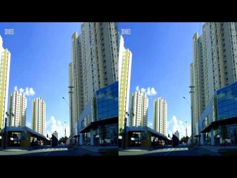3D - Um novo passeio por Curitiba num dia ensolarado Maio 2014