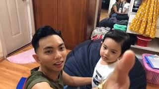 Ba Phan Hiển làm tóc cho Kubi đẹp trai! | Gia đình Khánh Thi