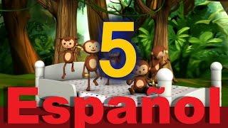 Cinco monitos saltaban en la cama   Canciones infantiles   LittleBabyBum