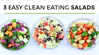 3 Easy Healthy Salad Recipes