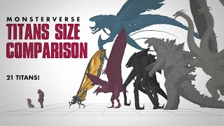 Monsterverse Titans | ANIMATED Size Comparison