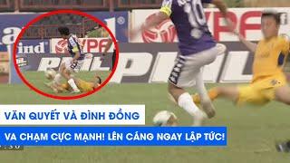 VA CHẠM CỰC MẠNH với Văn Quyết, Đình Đồng lên cáng ngay lập tức | SLNA - Hà Nội FC | NEXT SPORTS