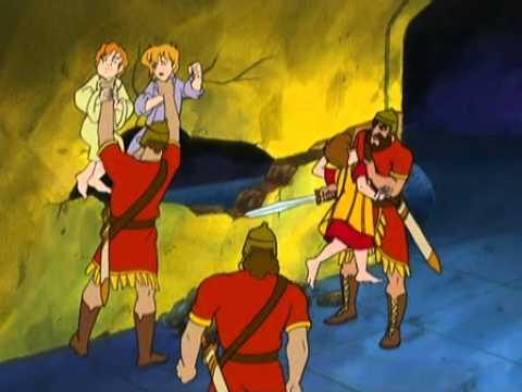 Daniel et la Fosse aux Lions en dessin animé