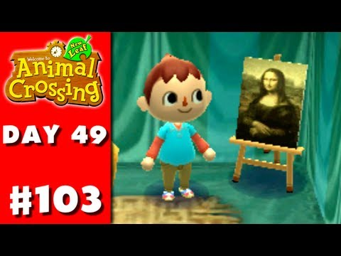 Animal Crossing: New Leaf - Part 103 - Famous Painting (Nintendo 3DS Gameplay Walkthrough Day 49) - Smashpipe Games