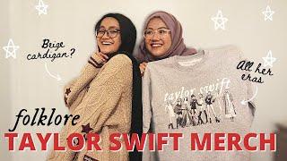 We Got Our Taylor Swift FOLKLORE Merch! (cardigan & eras sweater)