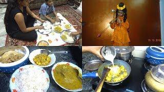 Fancy Dress Competition || Indian Dinner Routine 2018 ||  kaju-posto paneer ||  Navratri vlog ||