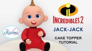 How to make Jack-Jack (Cake Topper) / Cómo hacer a Jack-Jack para decorar tortas