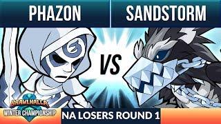 Phazon vs Sandstorm - L Round 1 - Winter Championship NA 1v1 Top 8
