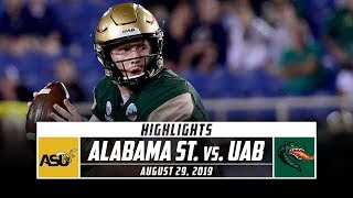 Alabama State vs. UAB Football Highlights (2019) | Stadium