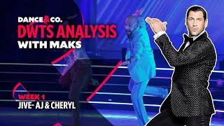 DWTS MAKS ANALYSIS: Week 1 - AJ Mclean & Cheryl Burke's Jive