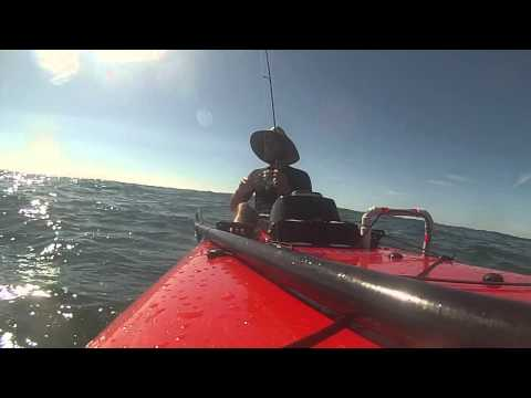 Snapper fishing double island point in a kayak