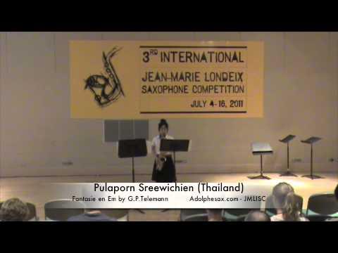 3rd JMISC. Pulaporn Sreewichien. Fantasia en Mim n8 by G.P. Telemann