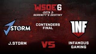 Infamous vs J.Storm Game 1 - WSOE 6: Dota 2 - Serenity's Destiny - Contenders Final