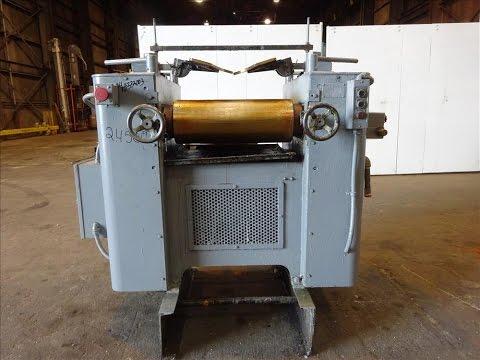 Used- Kent Machine Works Horizontal Three Roll Mill, Model 9 x 24, Carbon Steel - stock # 48333003