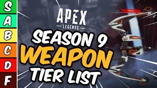 Apex Legends Weapon Tier List Season 9! - Apex Legends Legacy