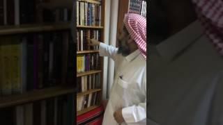 زيارة مكتبة الشيخ عبدالله البطاطي، ونماذج من إهداءات الكتب.     -