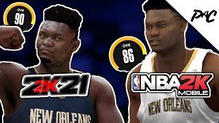 Comparing NBA 2K MOBILE Ratings Vs NBA 2K21
