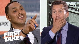 Will Cain can't handle Ryan Hollins calling KD and Kyrie to the Nets 'overrated' | First Take