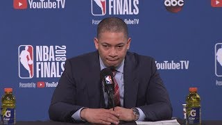 Tyronn Lue Postgame Interview - Game 1   Cavaliers vs Warriors   May 31, 2018   2018 NBA Finals