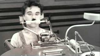 Modern Times - Charlie Chaplin Eating Machine