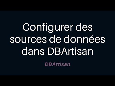 Configurer des sources de données dans DBArtisan
