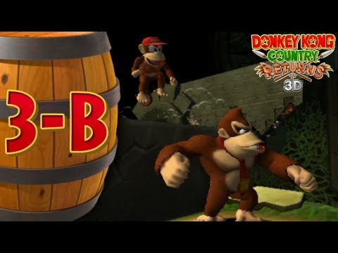 Donkey Kong Returns 3D - Co-op - 3-B Ruined Roost - Smashpipe Film