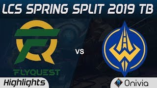 FLY vs GGS TB Highlights LCS Spring 2019 Tiebreaker Flyquest vs Golden Guardians LCS Highlights by O