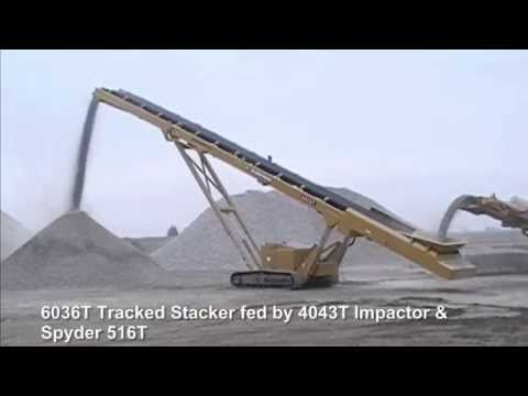 6036T Tracked Conveyor Compilation