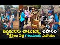Upasana Konidela visits Srisailam temple, helps tribals in Nallamala forest