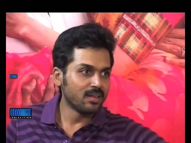 Interview with Tamil Actor Karthi