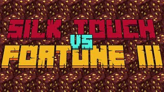Silk Touch vs Fortune III on Nether Ore | Minecraft 1.16