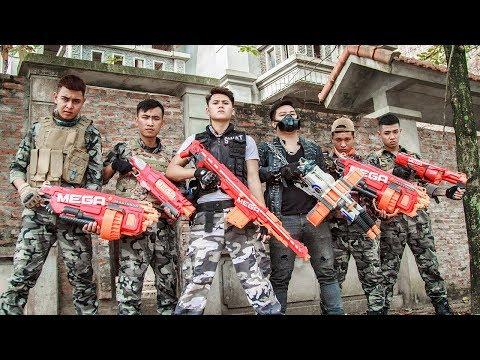 LTT Game Nerf War : Future Warriors SEAL X Nerf Guns Fight Group Rocket Man