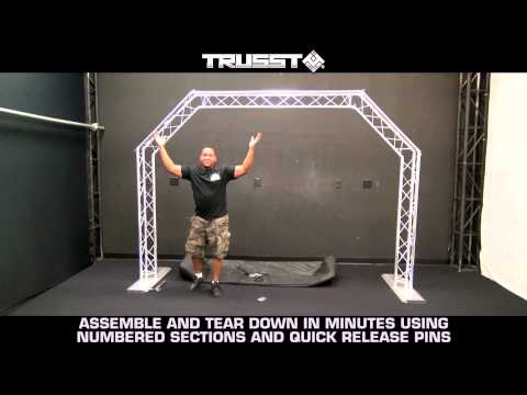 Truss system - Portable Arch Trussing Kit Perfect for Mobile DJs and Bands by TRUSST®