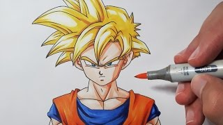 How To Draw Gohan Super Saiyan - Step by Step Tutorial!