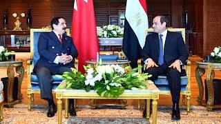 الرئيس-السيسي-يستقبل-ملك-البحرين